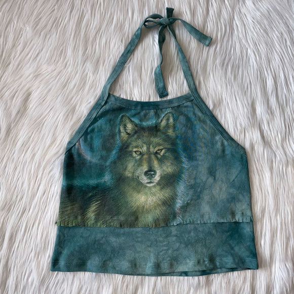 Upcycled Wolf Halter Top