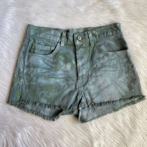 Upcycled Tie Dye Brandy Melville Shorts ( Green)
