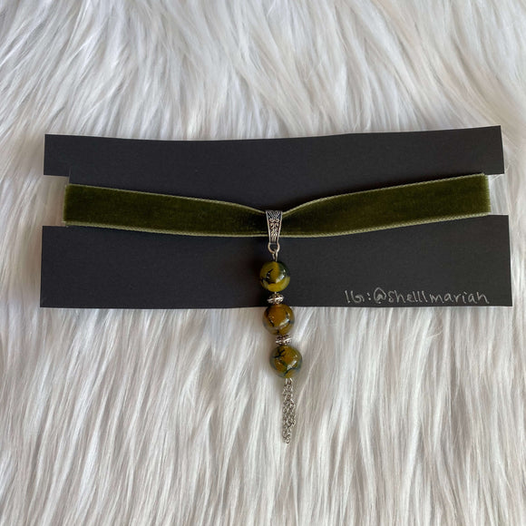 Dragon Vein Velvet Choker