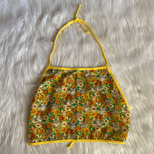 Vintage 70s Kitty Sunflower top