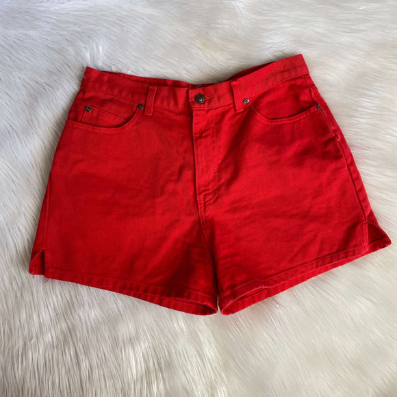 Vintage High Waisted Red Shorts