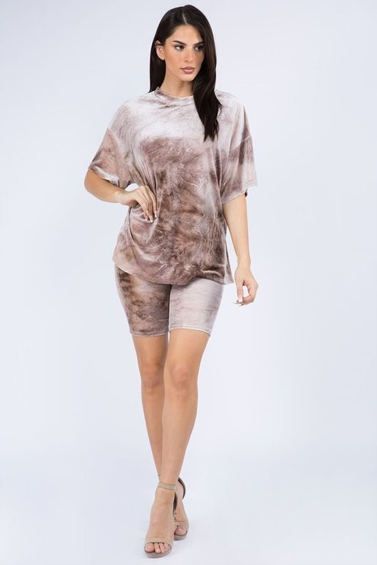 Velour Oversized Tie Dye Top