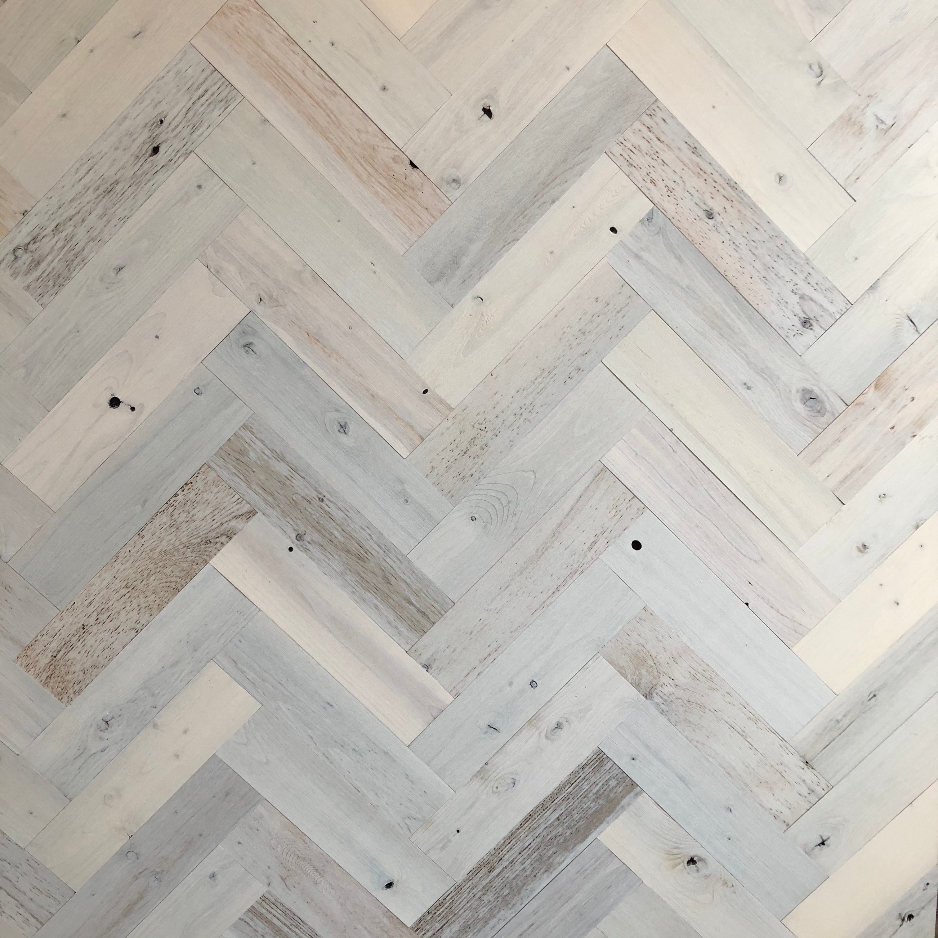 Coastal White Herringbone