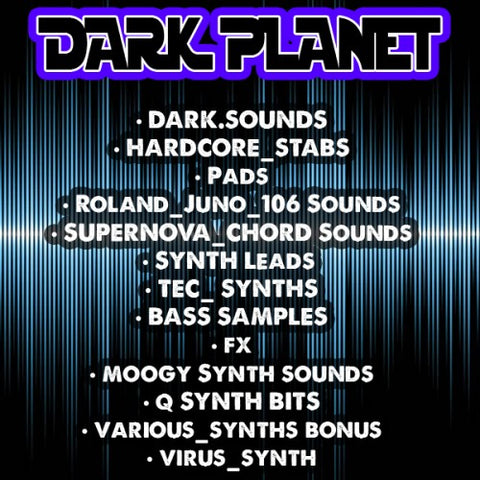 DARK PLANET SAMPLE PACK ( SYNTH SOUNDS AND DARK TECH )
