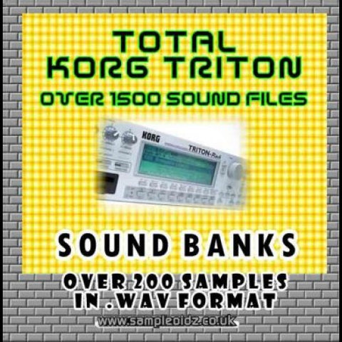TOTAL KORG TRITON- OVER 1500 SOUNDS!!!!