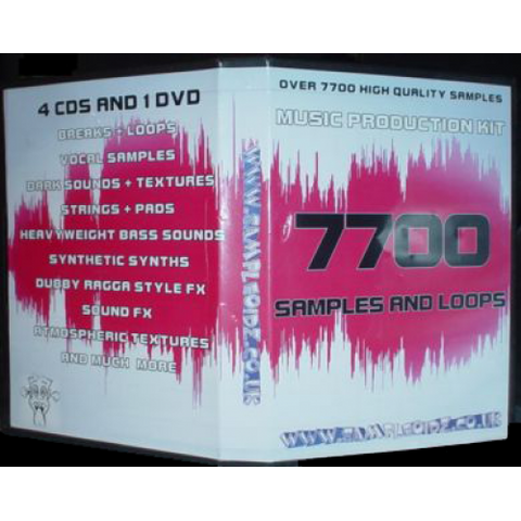 MUSIC PRODUCTION DEAL! 7700 LOOPS AND SAMPLES