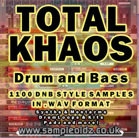 Total KHAOS Drum and Bass Samples 1100