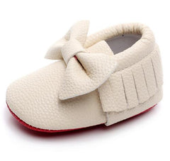 Little Miss Red Bottom Baby - Moccasin's