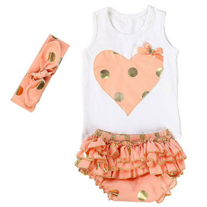 I Spot Polka Dots - Baby Girl Bloomer Set