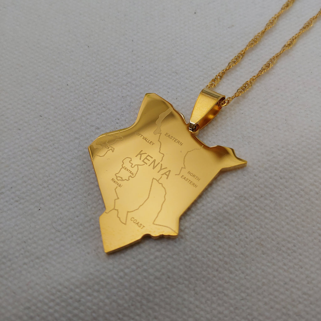 Kenya City Map Pendant - Iṣura