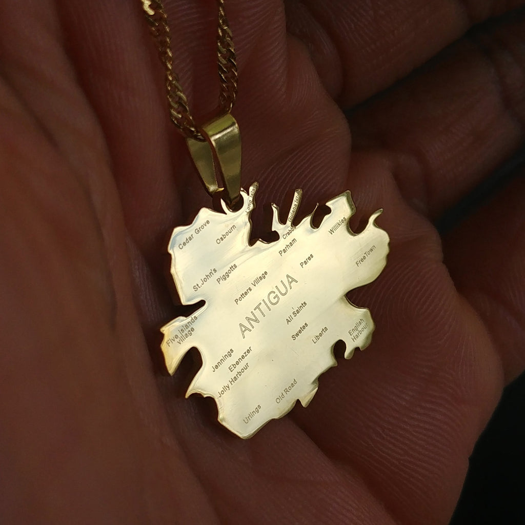Antigua City Map Pendant - Iṣura