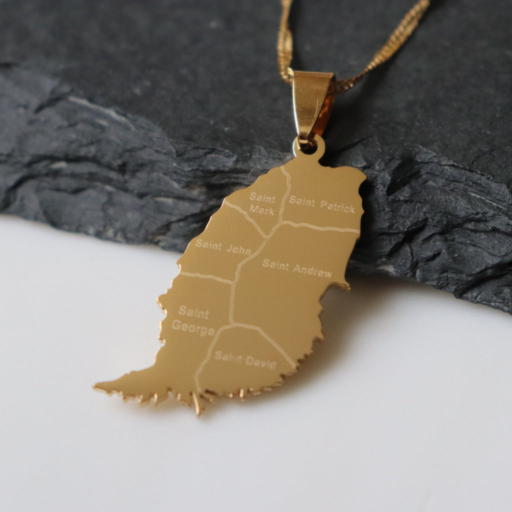 Grenada City Map Pendant - Iṣura