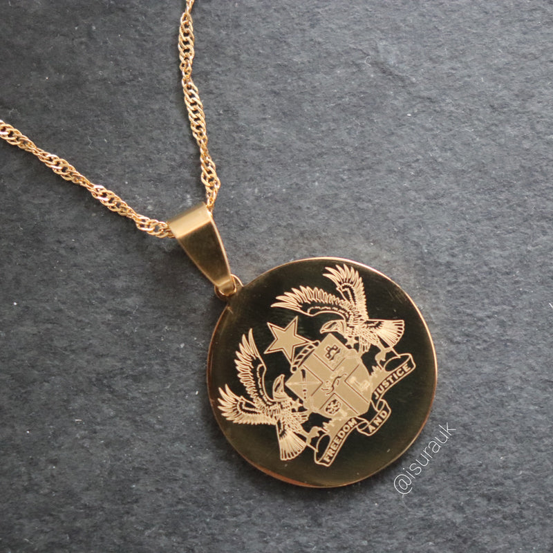Country Emblem Coin Necklace - Iṣura