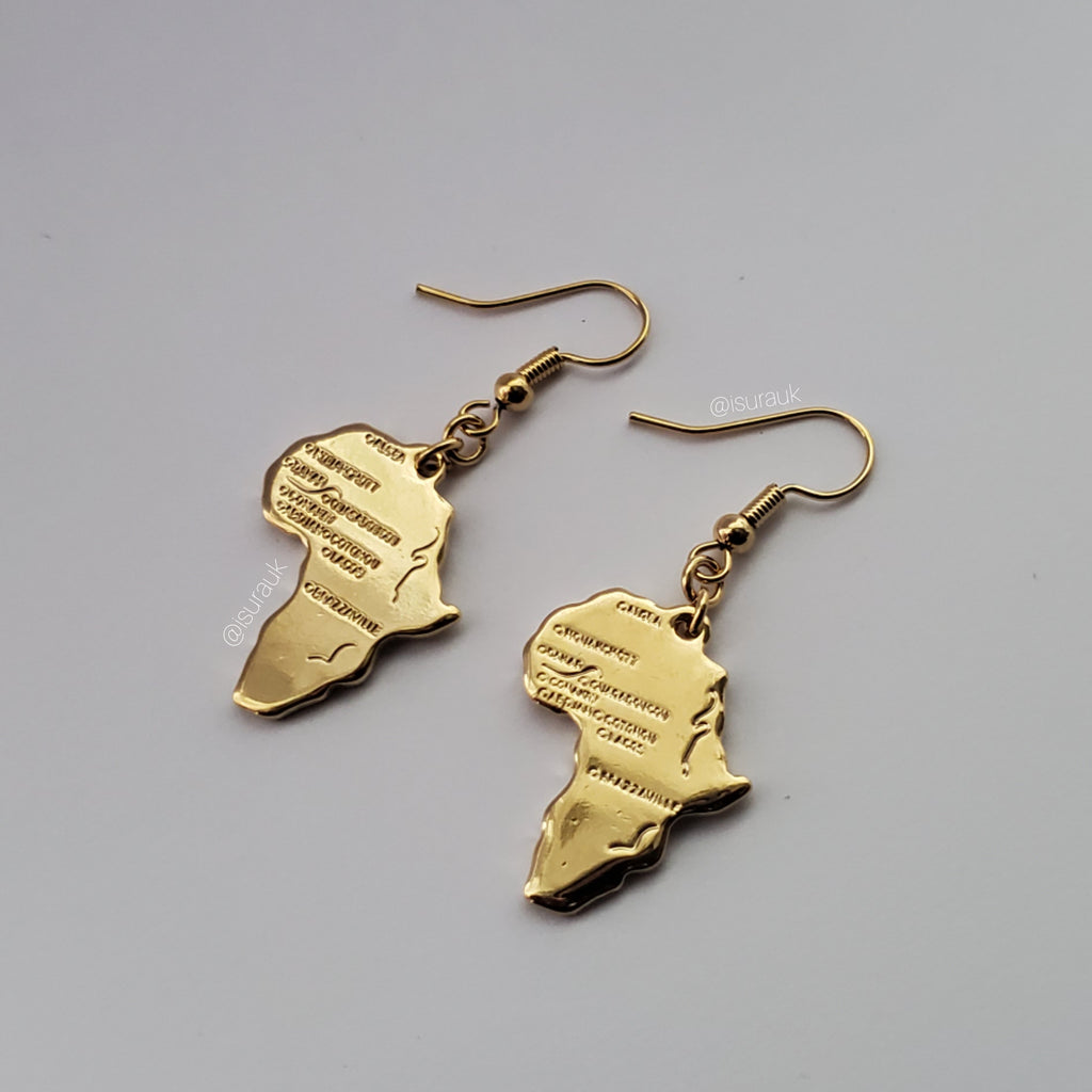 Africa Motherland Earrings - Iṣura