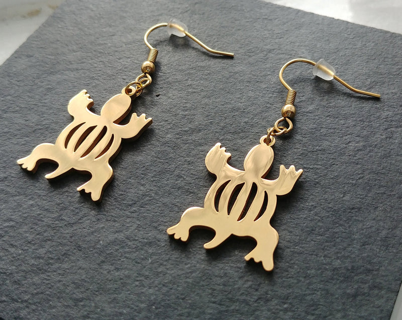 Denkyem Drop Earrings - Iṣura