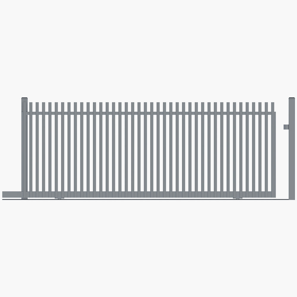 The Nicks Gate-Aluminium Angle Picket Gate-FenceLab