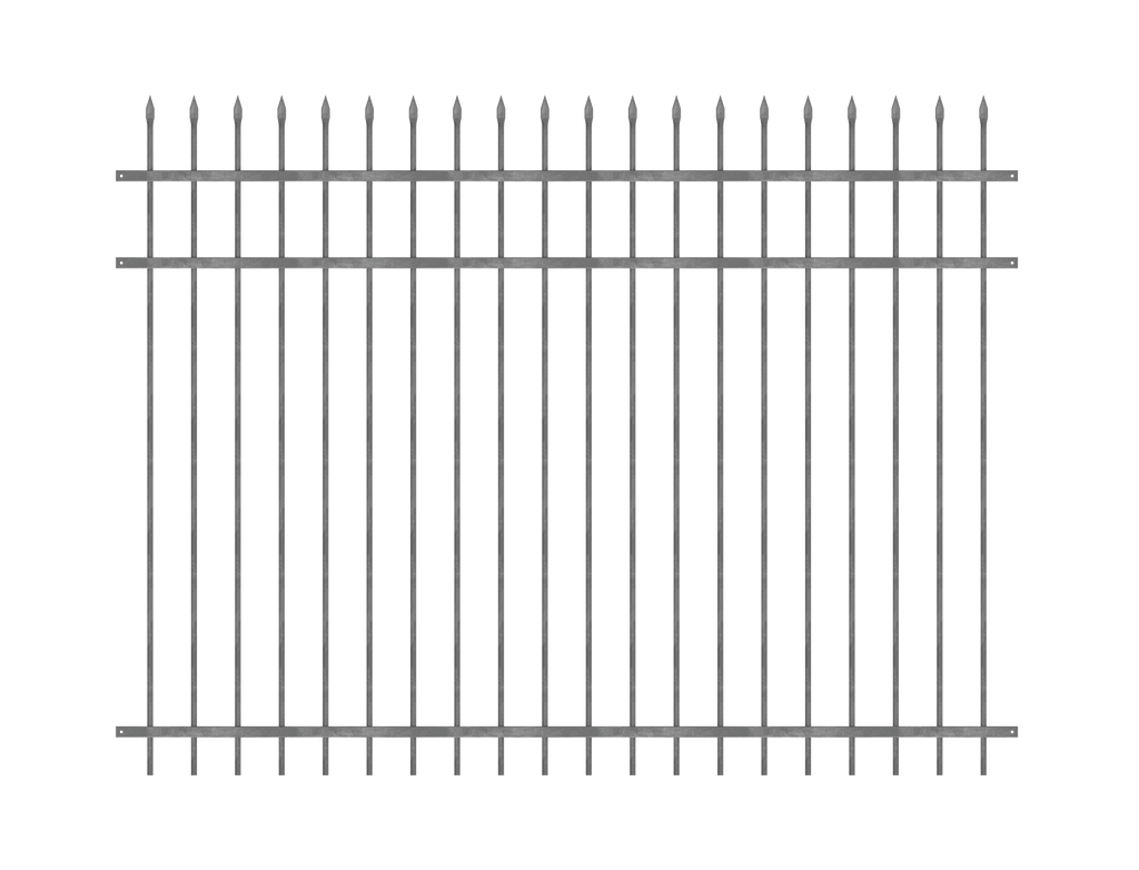 The Chiefs Security-Hot Dip Galv Steel Security Fence Panel-FenceLab