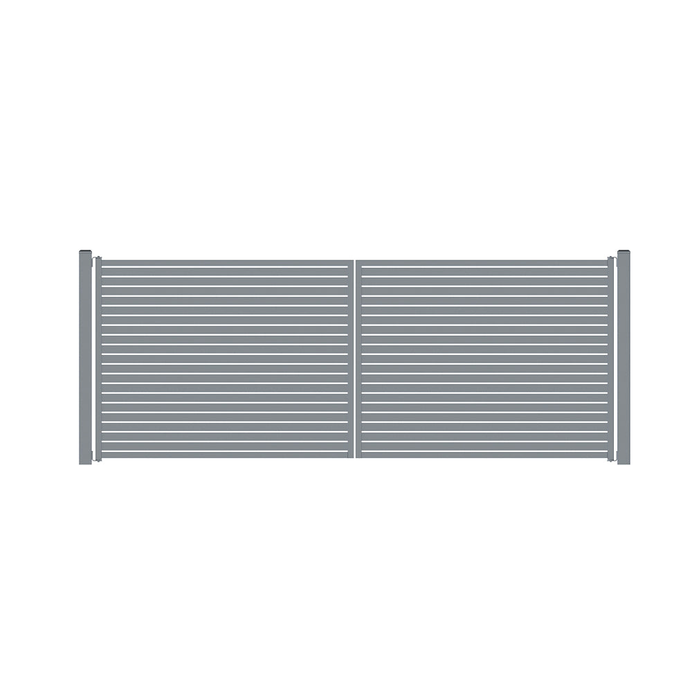 The Oasis Gate-Aluminium Slat Gate-FenceLab