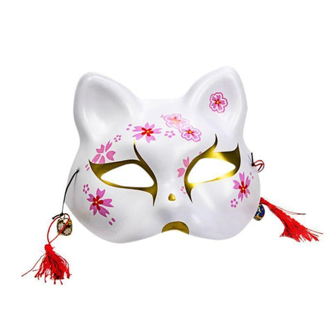 Le Renard Roux Masque renard 2020 Unisex Japanese Fox Mask With Tassels&Bell Non-toxic Cosplay Hand Painted 3D Fox Mask Costumes Props Accessories