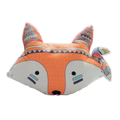 Child Fox Head Cushion