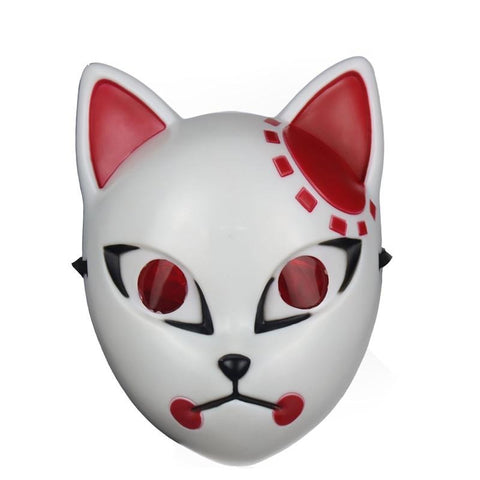 Le Renard Roux Black Anime Demon Slayer Kimetsu No Yaiba Cosplay Mask Plastic Material Kamado Tanjirou Cosplay Anime Fox Maskb