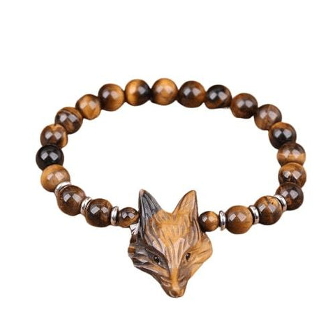 Bracelet Man Brown Fox Head