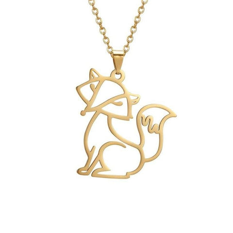 Fox pendant necklace (Silver - Gold)