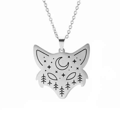 Fox's Head Necklace (Silver - Gold)