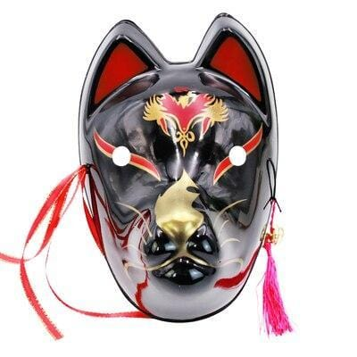 Le Renard Roux 12 Full Face Hand-Painted Naruto Hatake Kakashi Anbu Red Japanese Kitsune Cosplay Fox Masks Halloween Cartoon Character Costumes