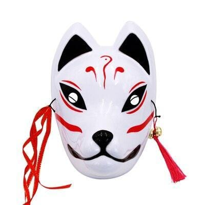 Le Renard Roux 10 Full Face Hand-Painted Naruto Hatake Kakashi Anbu Red Japanese Kitsune Cosplay Fox Masks Halloween Cartoon Character Costumesb
