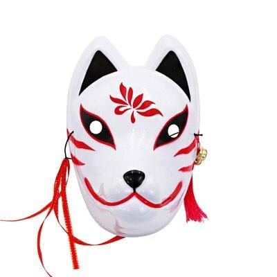 Le Renard Roux 11 Full Face Hand-Painted Naruto Hatake Kakashi Anbu Red Japanese Kitsune Cosplay Fox Masks Halloween Cartoon Character Costumesc