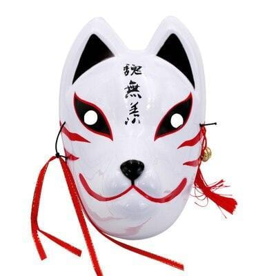 Le Renard Roux 14 Full Face Hand-Painted Naruto Hatake Kakashi Anbu Red Japanese Kitsune Cosplay Fox Masks Halloween Cartoon Character Costumese