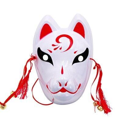 Le Renard Roux 6 Full Face Hand-Painted Naruto Hatake Kakashi Anbu Red Japanese Kitsune Cosplay Fox Masks Halloween Cartoon Character Costumese