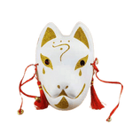 Le Renard Roux 7 Full Face Hand-Painted Naruto Hatake Kakashi Anbu Red Japanese Kitsune Cosplay Fox Masks Halloween Cartoon Character Costumesf