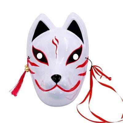 Le Renard Roux 3 Full Face Hand-Painted Naruto Hatake Kakashi Anbu Red Japanese Kitsune Cosplay Fox Masks Halloween Cartoon Character Costumesh
