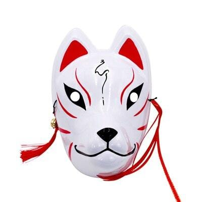 Le Renard Roux 4 Full Face Hand-Painted Naruto Hatake Kakashi Anbu Red Japanese Kitsune Cosplay Fox Masks Halloween Cartoon Character Costumesi
