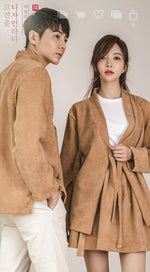 Corduroy Brown  Jeogori Blouse
