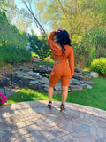 Orange Peel Off The Shoulder Set
