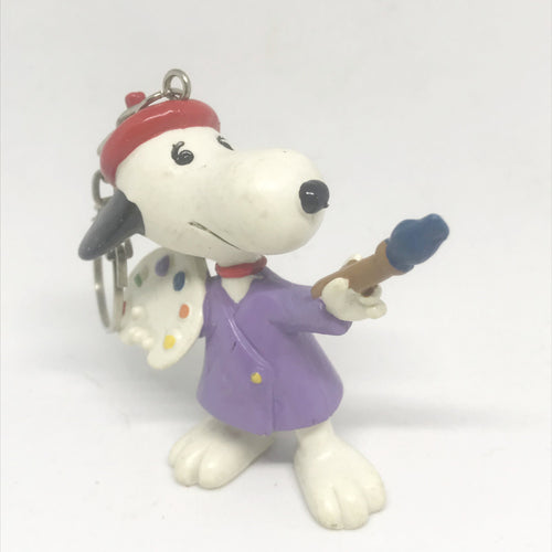 Snoopy Vintage Vinyl Figure Keyring-Painter