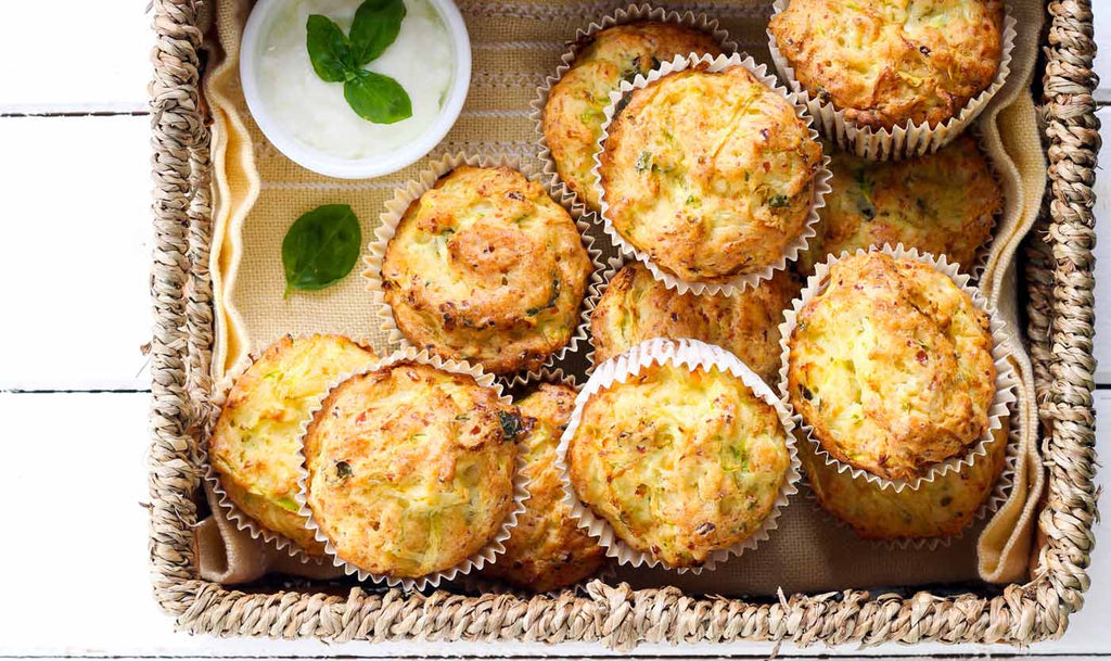 Courgette & cheddar muffins