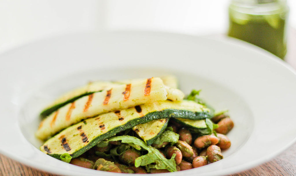Fast Food: Courgette salad with lemon basil dressing