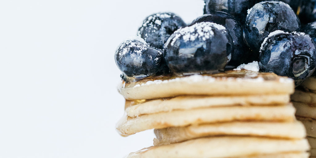 Blueberry and buckwheat collagen pancakes
