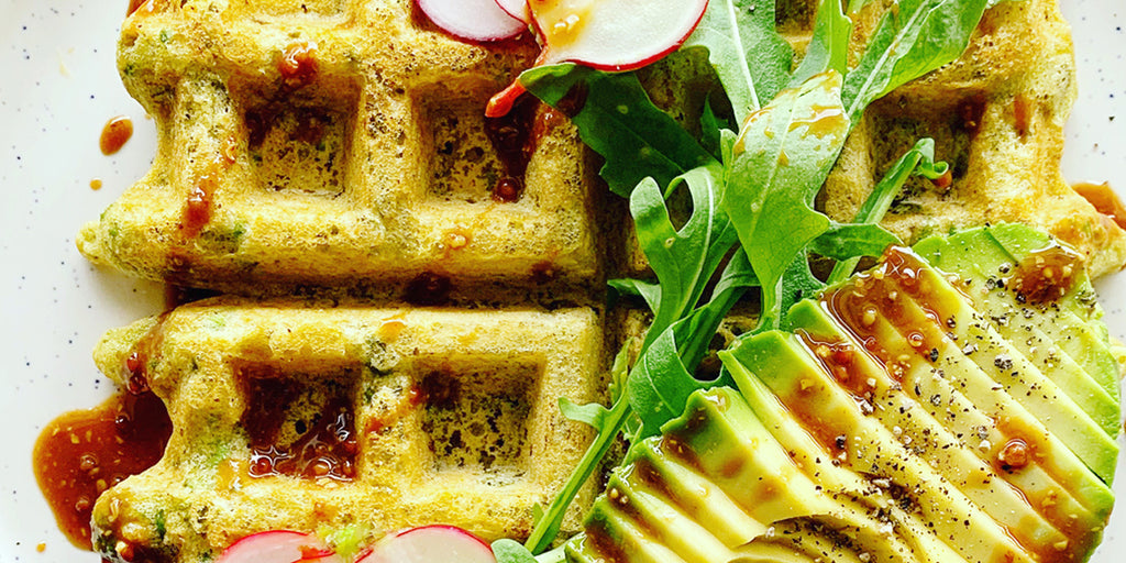 Skinful Pea And Pumpkin Seed Waffles | Phoebe Liebling