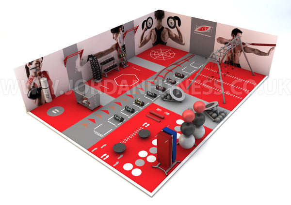 2b example layout functional area within a gym health for Gym design layout