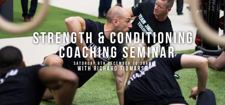Strength and Conditioning Seminar with Richard Tidmarsh