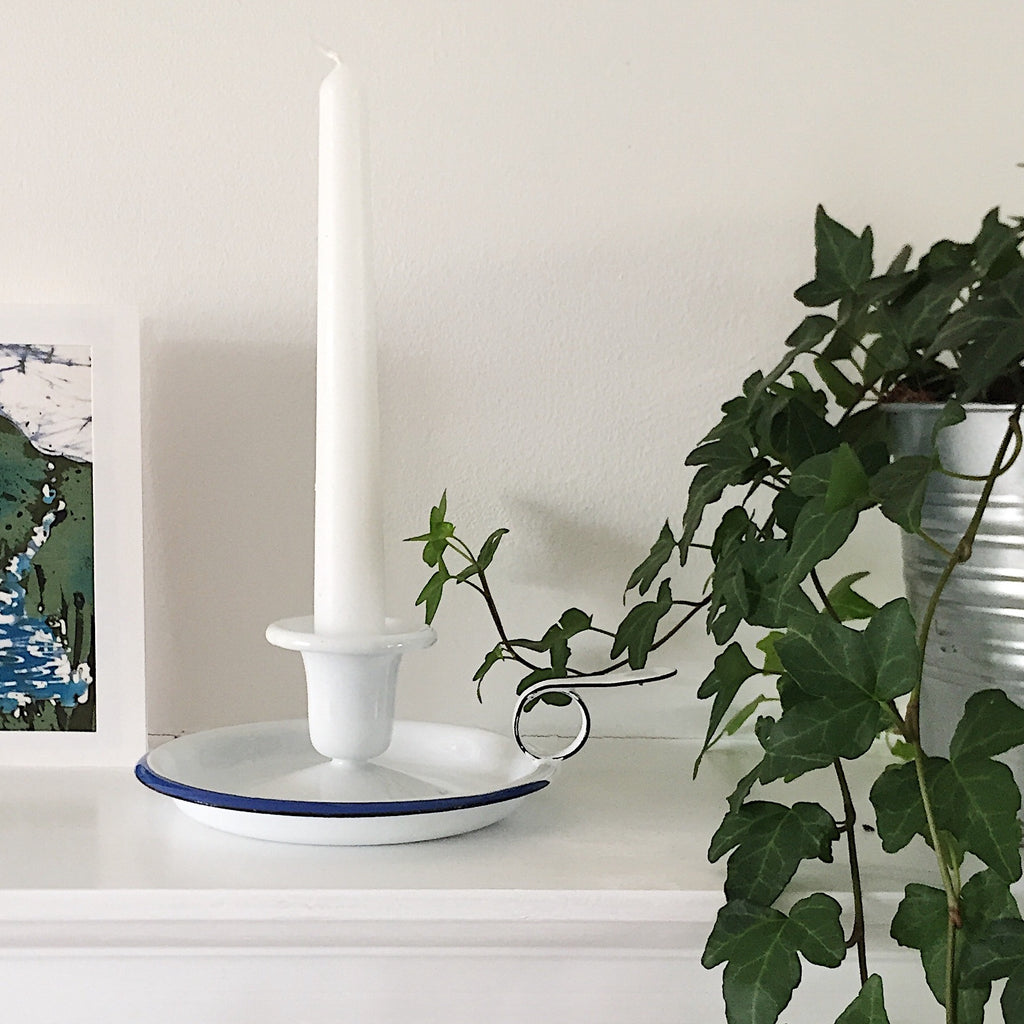Enamel Candle Holder
