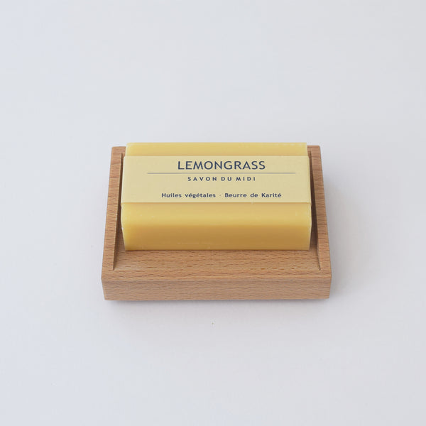 Beechwood soap dish by Redecker