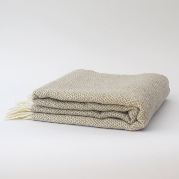 Welsh 100% natural wool throw by Tweedmill Textiles