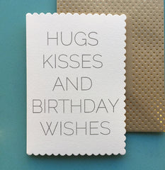 Hugs, kisses and birthday wishes card