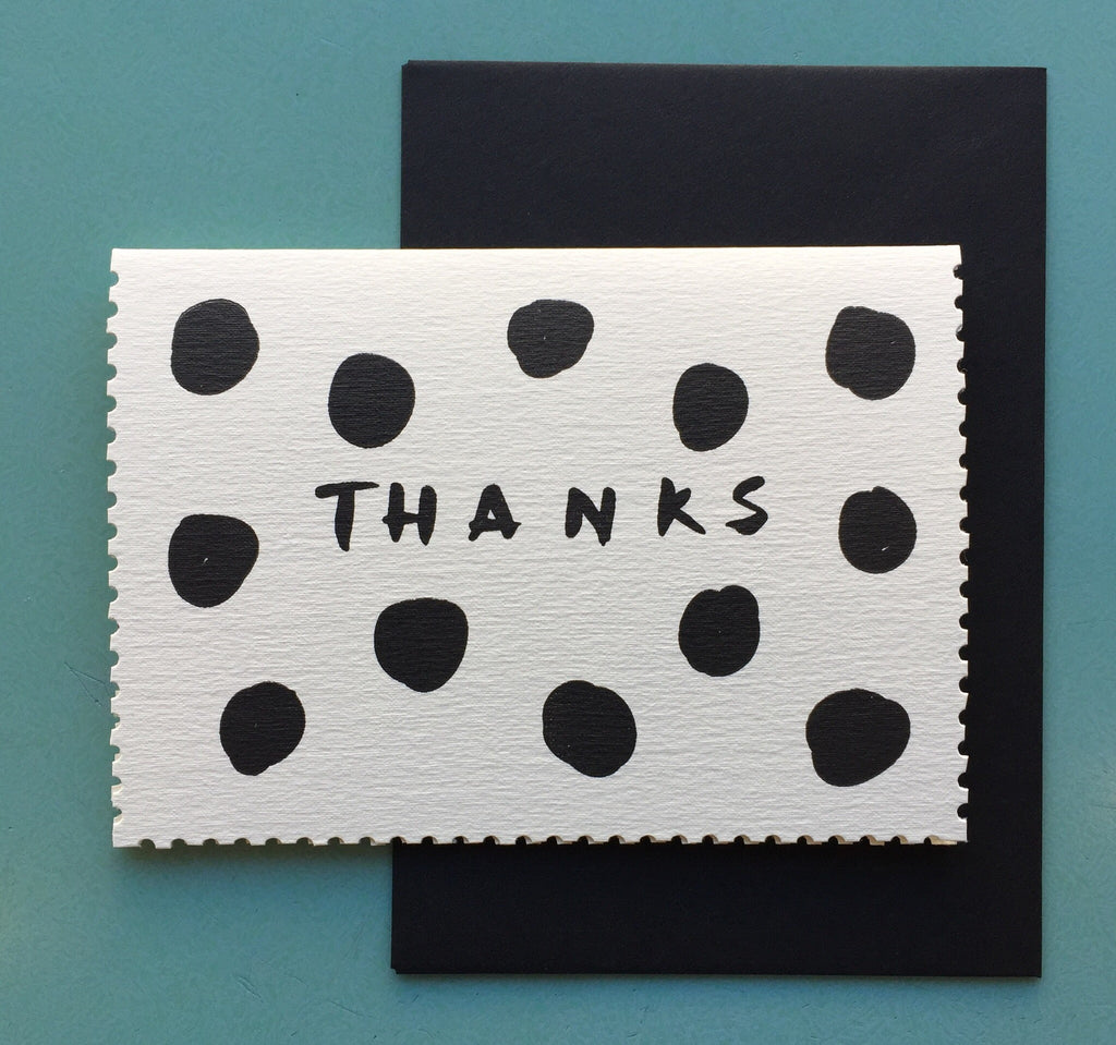 Spotty Thanks Card